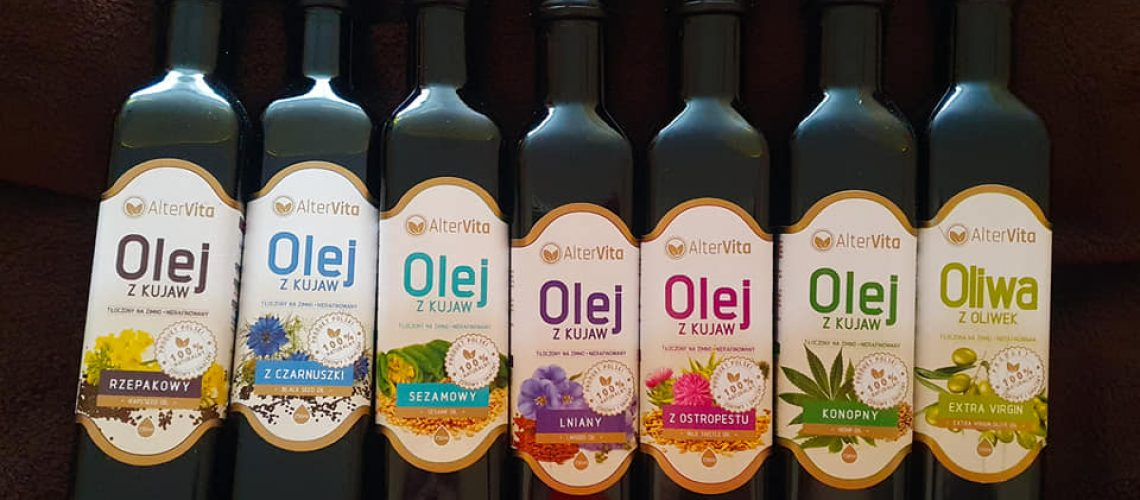 2) Oleje tłoczone na zimno AlterVita - zdjęcie do artykułu